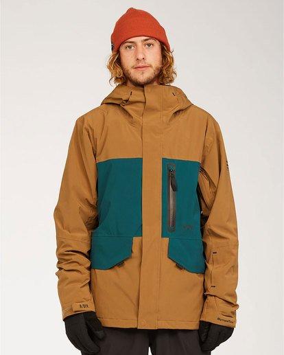 0 Adventure Division Collection Delta Stx - Waterproof Jacket for Men Brown U6JM21BIF0 Billabong
