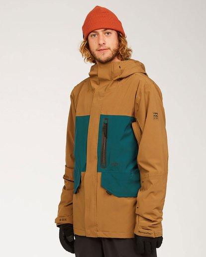 4 Adventure Division Collection Delta Stx - Waterproof Jacket for Men Brown U6JM21BIF0 Billabong