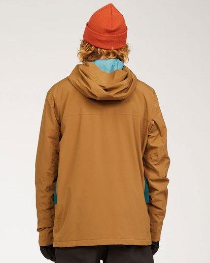 5 Adventure Division Collection Delta Stx - Waterproof Jacket for Men Brown U6JM21BIF0 Billabong