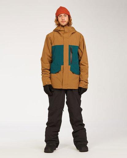 6 Adventure Division Collection Delta Stx - Wasserdichte Jacke für Männer Braun U6JM21BIF0 Billabong