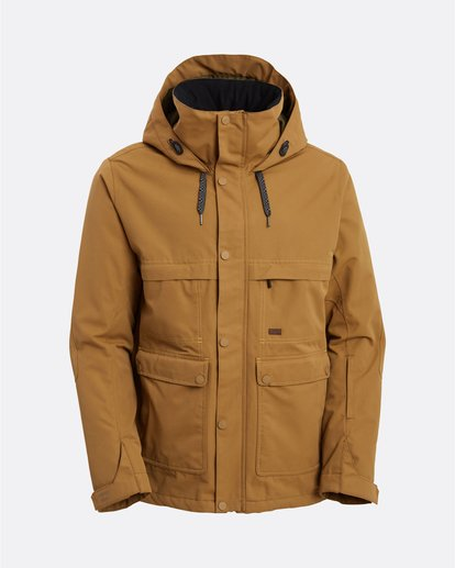 10 Shadow - Jacket for Men Brown U6JM26BIF0 Billabong