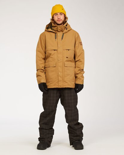3 Shadow - Jacket for Men Brown U6JM26BIF0 Billabong