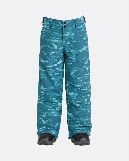 0 Grom - Pantalon de snow pour Garçon Bleu U6PB10BIF0 Billabong