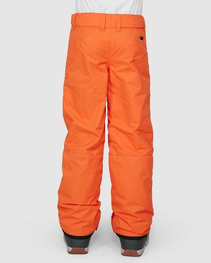 2 Grom Boys Pants Orange U6PB10S Billabong