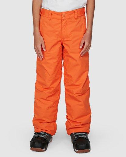 3 Grom Boys Pants Orange U6PB10S Billabong