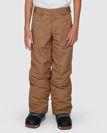 3 Grom Boys Pants Brown U6PB10S Billabong