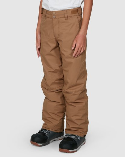 4 Grom Boys Pants Brown U6PB10S Billabong
