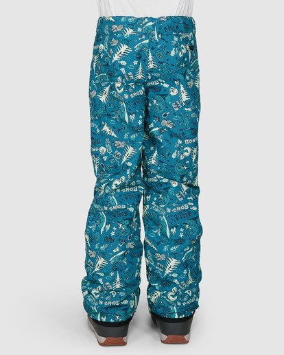 2 Grom Boys Pants Green U6PB10S Billabong