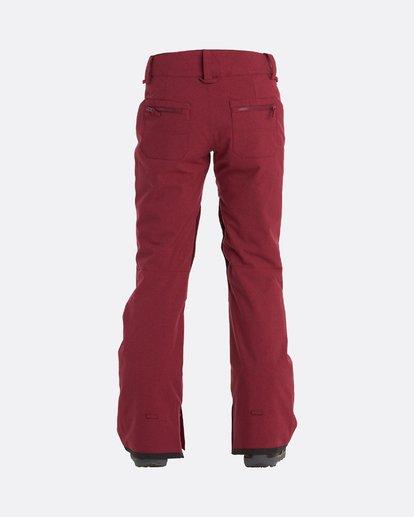 4 Terry - Pantalones para nieve para Mujer Rojo U6PF23BIF0 Billabong