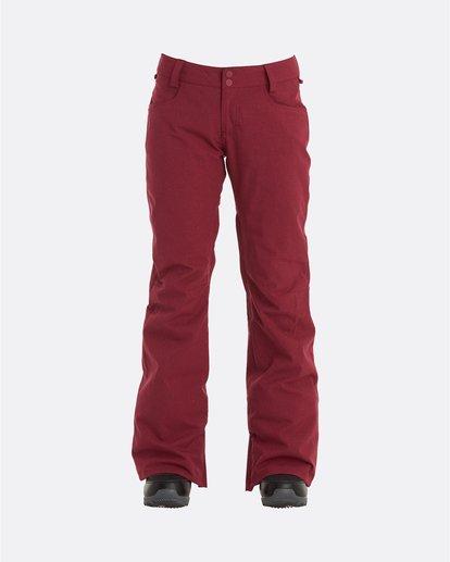 3 Terry - Pantalones para nieve para Mujer Rojo U6PF23BIF0 Billabong