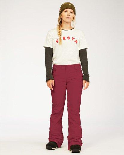 0 Terry - Pantalones para nieve para Mujer Rojo U6PF23BIF0 Billabong