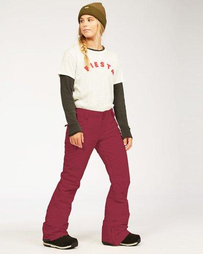 2 Terry - Pantalones para nieve para Mujer Rojo U6PF23BIF0 Billabong