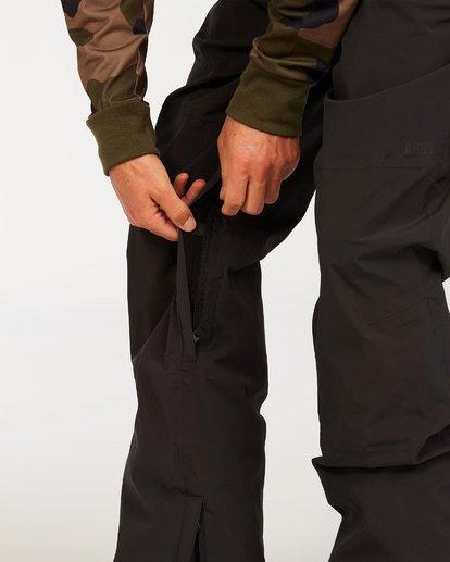 3 Adventure Division Collection North West Stx - Pantalón peto para nieve para Hombre Negro U6PM20BIF0 Billabong