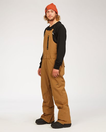 4 Adventure Division Collection North West Stx - Pantalón peto para nieve para Hombre Marron U6PM20BIF0 Billabong