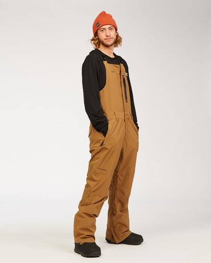 5 Adventure Division Collection North West Stx - Pantalón peto para nieve para Hombre Marron U6PM20BIF0 Billabong