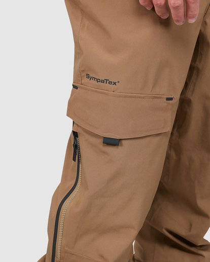 3 Ascent SympaTex Pants Brown U6PM21S Billabong
