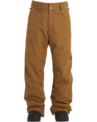 0 Tuck Knee - Snow Pants for Men Brown U6PM23BIF0 Billabong
