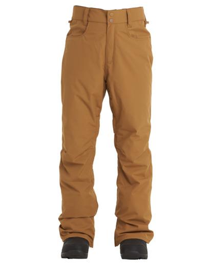 3 Outsider - Pantalones para nieve para Hombre Marron U6PM25BIF0 Billabong