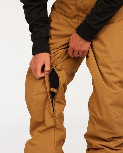 1 Outsider - Pantalones para nieve para Hombre Marron U6PM25BIF0 Billabong