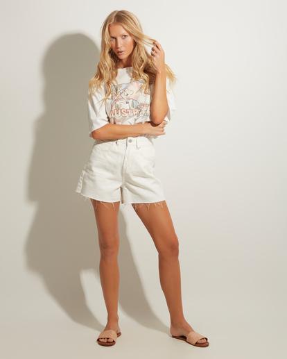 0 Riley Cut-Off Denim Shorts White UBJDS00103 Billabong