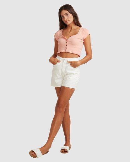 6 Riley Cut-Off Denim Shorts White UBJDS00103 Billabong