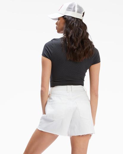 4 Riley Cut-Off Denim Shorts White UBJDS00103 Billabong