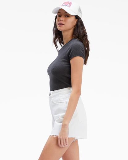 2 Riley Cut-Off Denim Shorts White UBJDS00103 Billabong
