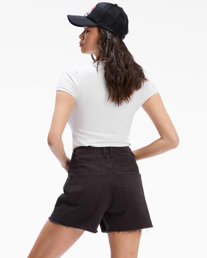 3 Riley Cut-Off Denim Shorts Black UBJDS00103 Billabong