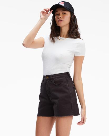 1 Riley Cut-Off Denim Shorts Black UBJDS00103 Billabong