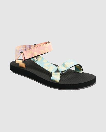 2 Hot Tropics Double Strap Sandals Grey UBJL200002 Billabong