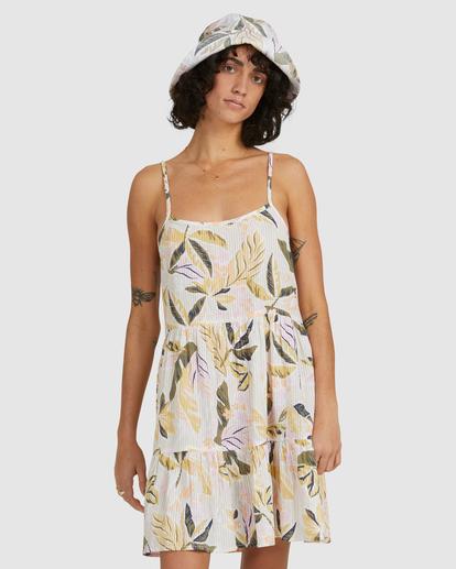 1 Sunset Blue Bell Dress White UBJWD00190 Billabong