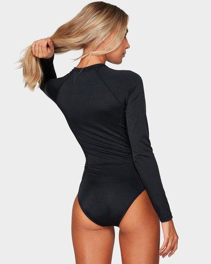 2 Sunday Funday Long Sleeve Swimsuit Black UBJWR00100 Billabong