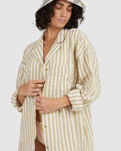 5 Sunset Stripe Shirt Green UBJWT00129 Billabong