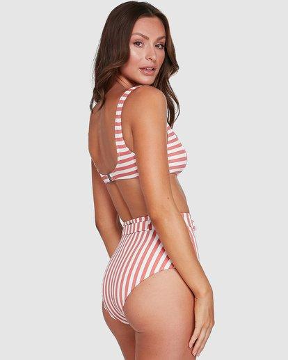2 Cassy Stripe Square Bralette Bikini Top Grey UBJX300108 Billabong