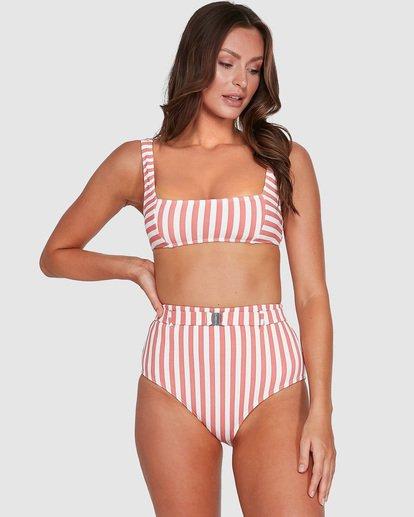 2 Cassy Stripe Hi Retro Bikini Bottoms Grey UBJX400107 Billabong