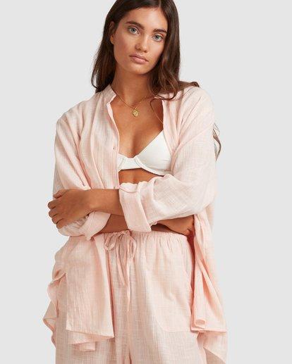 4 Sun Lovers Overshirt Cover Up Pink UBJX600101 Billabong