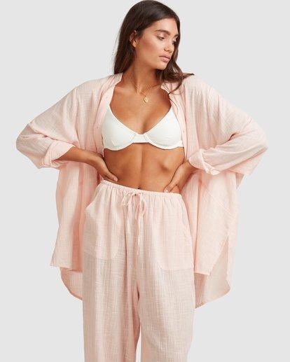 0 Sun Lovers Overshirt Cover Up Pink UBJX600101 Billabong