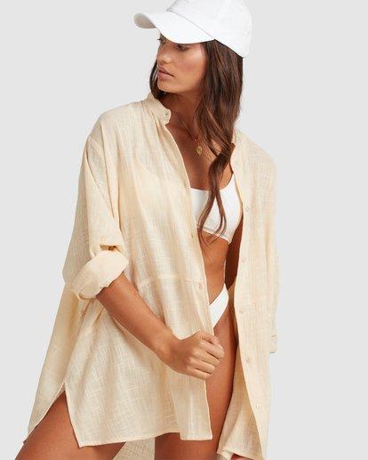 4 Sun Lovers Overshirt Cover Up Beige UBJX600101 Billabong