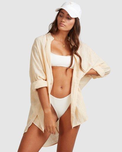 0 Sun Lovers Overshirt Cover Up Beige UBJX600101 Billabong