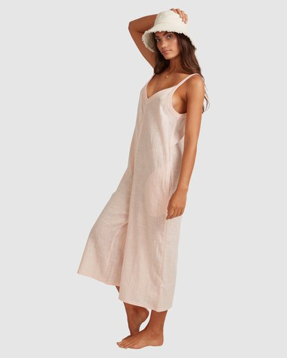 2 Sun Lovers Jumpsuit Cover Up Pink UBJX600104 Billabong