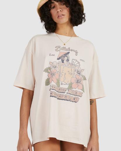 4 Tropical Treat T-Shirt Pink UBJZT00153 Billabong