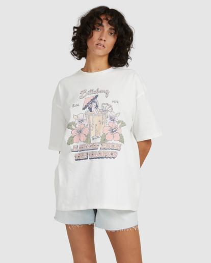 3 Tropical Treat T-Shirt White UBJZT00153 Billabong