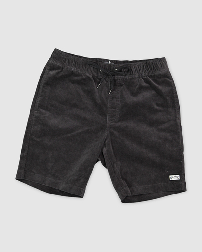0 Larry Layback Cord Shorts Black UBYWS00102 Billabong