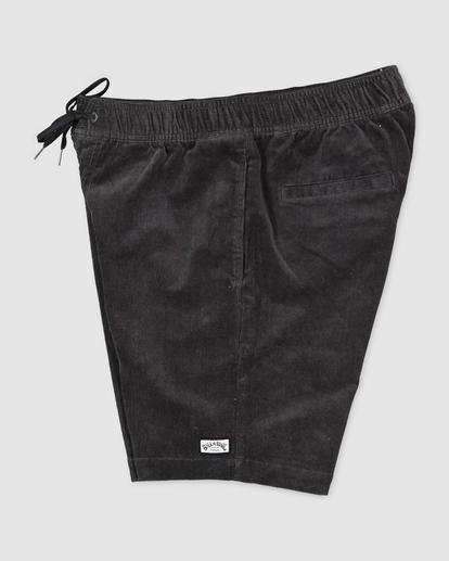 2 Larry Layback Cord Shorts Black UBYWS00102 Billabong
