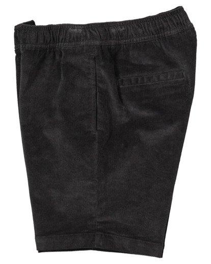 3 Larry Layback Cord Shorts Black UBYWS00102 Billabong
