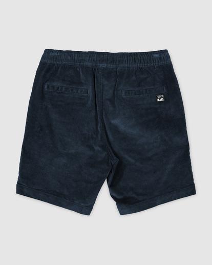 1 Larry Layback Cord Shorts Blue UBYWS00102 Billabong