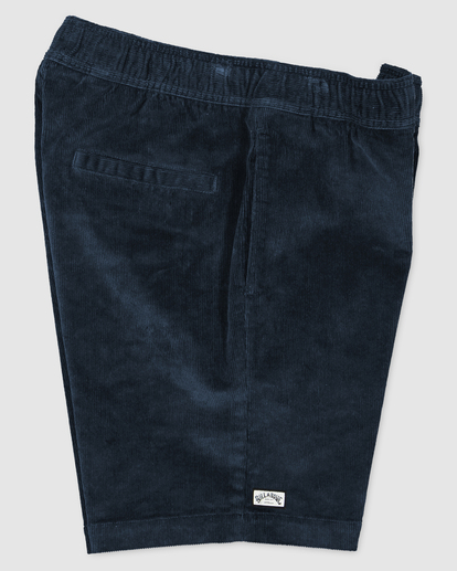 2 Larry Layback Cord Shorts Blue UBYWS00102 Billabong