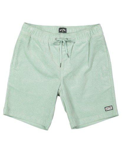 0 Larry Layback Cord Shorts Blue UBYWS00102 Billabong
