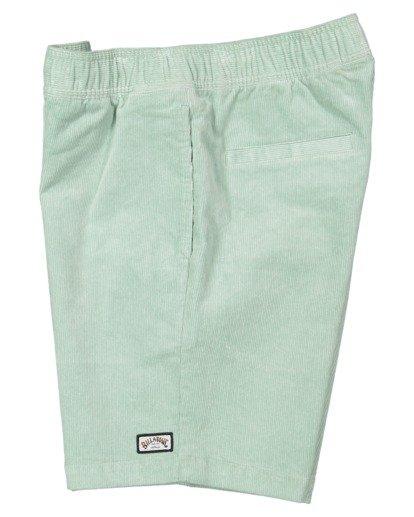 3 Larry Layback Cord Shorts Blue UBYWS00102 Billabong