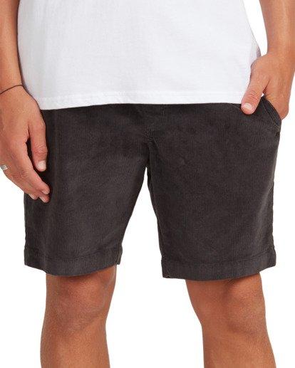 7 Larry Layback Cord Shorts Black UBYWS00102 Billabong
